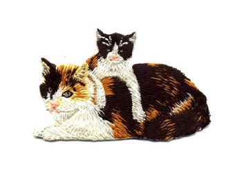 Cat- Kitten - Pet - Cat Lover - Embroidered Iron On Applique Patch