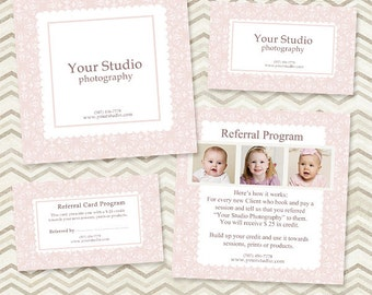 Photography Referral Card Template - 5x5 Card & Rep Card Referral Templates 01 - C046, INSTANT DOWNLOAD