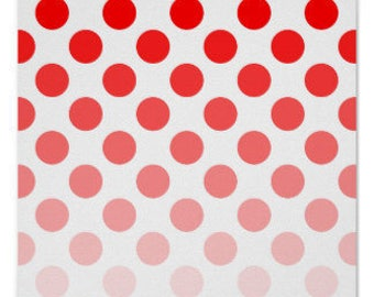 Riley Blake 100%  Red Ombre Dots