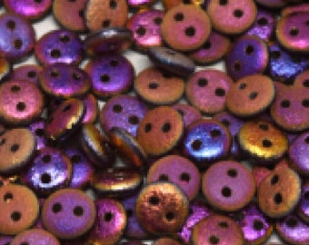 2-hole Lentil 6 mm Etched Crystal Sliperit Full - 50 beads