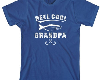 Reel Cool Grandpa Shirt -  gift idea, father's day gift idea, papa, pawpaw, Christmas gift, birthday gift, fisherman gift - ID: 1856
