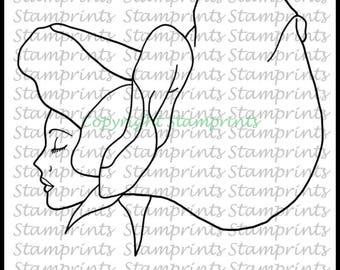 Sweet Pea Flower Girl (TLS-1810) Digital Stamp. Cardmaking.Scrapbooking.MixedMedia.