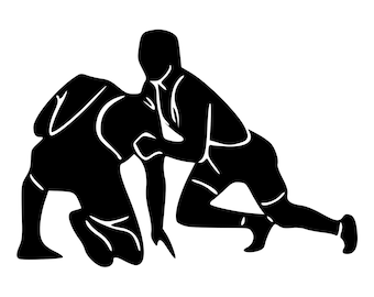 Wrestling Decal Etsy