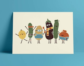 Costume Party A4 Art Print