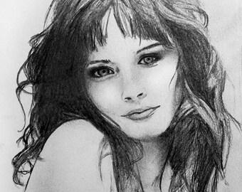 Custom 8x10in portrait drawing *pencil*