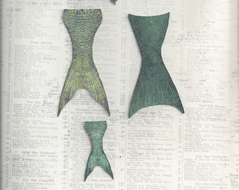 Mermaid Constructed Paper Doll