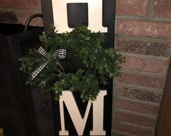 Whimsical HOME sign