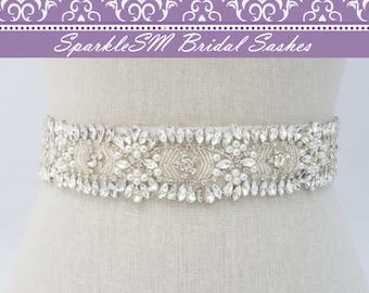 Crystal Bridal Belt, Jeweled Belt, Rhinestone Sash Belt, Wedding Belt, Wedding Sash, Crystal Bridal Sash, Bridal Belt, Bridal Dress Sash