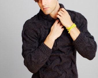 AQUA -FORMEN- 002 Alpaca sweater