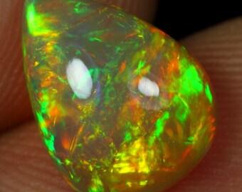 2.70cts Stunning Green Chaff Fire Natural Ethiopian Welo Opal