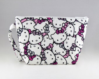 Pastel Kitty Makeup Bag - Accessory - Cosmetic Bag - Pouch - Toiletry Bag - Gift