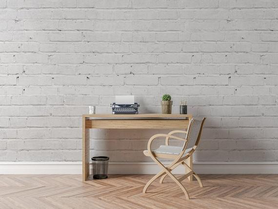Bricks Removable Wallpaper White