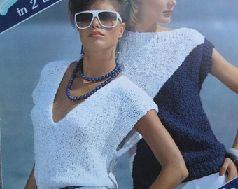 Knit Pattern Book - Breeze Knits #865 - by Brunswick - 4 Projects to create - Size Small, Medium, Large, XLarge - Vintage 1980's