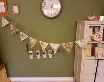 Vintage fabric bunting
