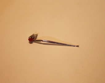Japanese hair accessory silver kanzashi