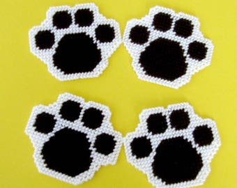 Paw Print Drink Coasters. Dog-Days-of-Summer Beverage Coasters. Dog Paw Print Coasters. Mug Rugs. Table Mats. Hostess or Housewarming Gift.