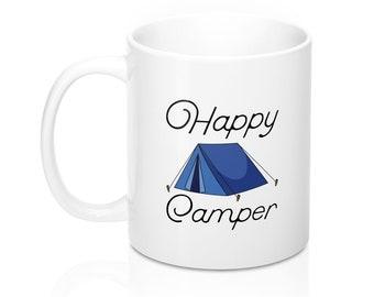 Happy Camper Enamel Mug Enamel Camping Mug Happy Camper Mug Enamel Camp Mug Camping Mug White Camp Mug Happy Camper Camp Mug