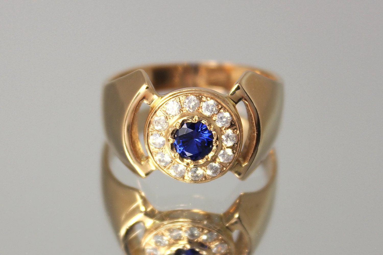 Gold ring men Signet ring men Gold signet ring Fashion ring