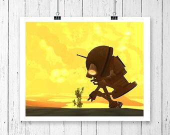 8x10, printable art, robot art print, robot decor, nursery decor, kids decor, kids art, geek art, sci fi art, nursery art, digital download