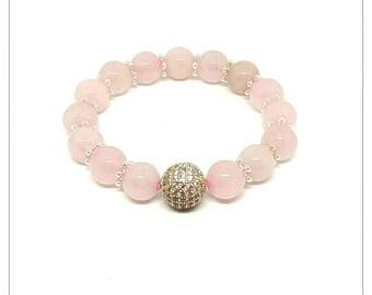 Feel the love rose quartz bracelet