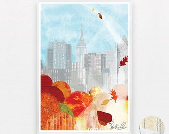 New York in the Fall A3 Print
