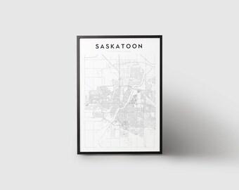 Saskatoon Map Print
