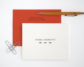 RIALTO FOLDED Letterpress Stationery - Classic Style - Custom Printed