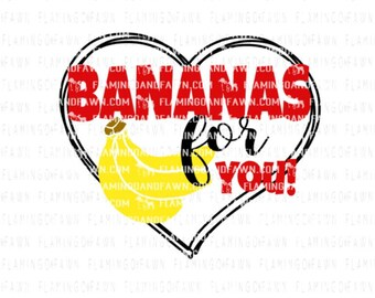 bananas svg, banana svg files, valentine food svg, valentine svg designs, valentine svg files, funny valentine svg file, food svg files