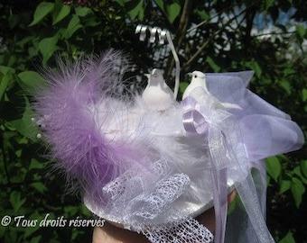 ring bearer nest, lavender & white ring bearer pillow revisited