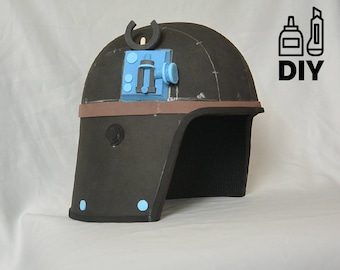 DIY Star Wars - ATST Driver helmet template for EVA foam