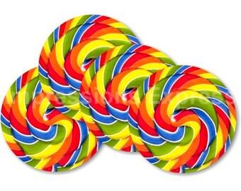Giant Lollipop Coasters - Set of 4