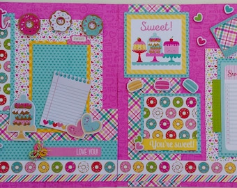"Sweet Memories Valentine 12""x12"" scrapbook layout kit"