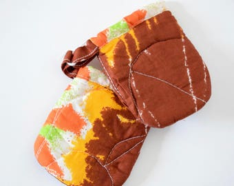 African Fabric Kitchen Pot Holders - Flames Fabric Pot Holders - Kitchen Ustensiles - Pot Holders UK - African Wax Fabric Pot Holders