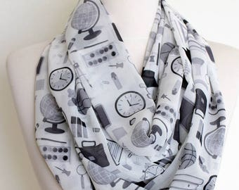 School Education Infinity scarf Geek item Circle scarf spring fall summer winter fashion student teacher gift