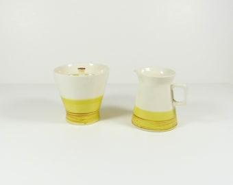 Colortone Sugar Bowl and Creamer Set - Oro