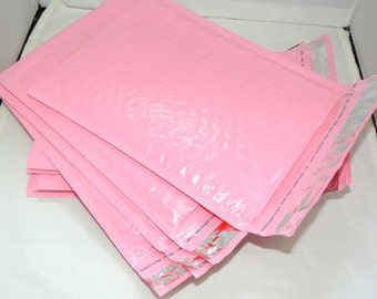 100 Pack 4x8 Wholesale Light Pastel Pink 4x8 Bubble Mailers, Pastel Pink Padded envelopes, Mailing Shipping Envelopes