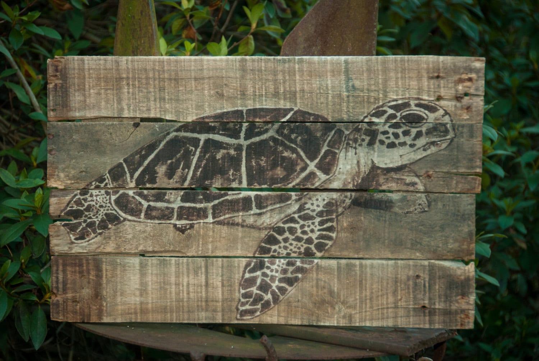 Sea Turtle Painting Art Lake House