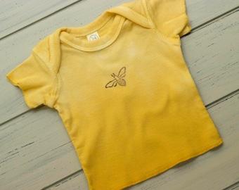Newborn: Yellow Bee Tee, baby shower gift, t-shirt, ombre dye