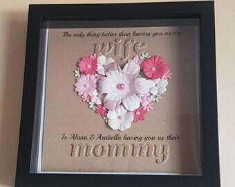 Mother's Day Flower Heart Box Frame