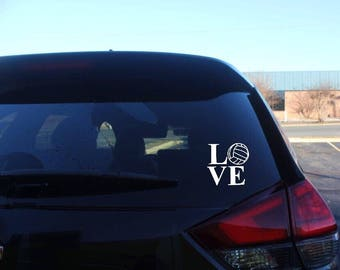 Volleyball love decal, vinyl decal, car decal
