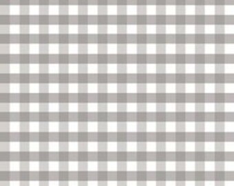 "Gingham Gray Double Gauze 56"" width by Riley Blake Designs"