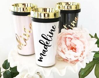 Travel Mug Coffee Mug Personalized Travel Mug Bridesmaid Coffee Mug Travel Mug Coffee Tumbler Coffee Cup Gifts  (EB3226P)