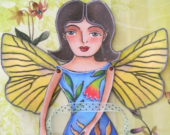 Printable butterfly fairy paper doll download