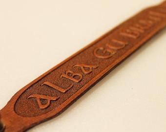 Alba Gu Brath Leather Armband