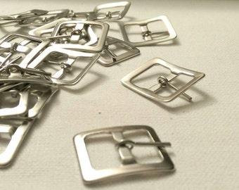 """24 Small silver tone buckles for a 5/8"""" strap"""