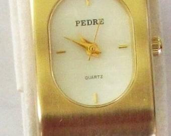 Gorgeous Pedre Ladies Pedre Watch! Bangle Watch that Clips on Wrist! Elegant! Original Box! Great!