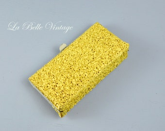 Split Peas Clutch ~ Vintage 1950s Textured Celluloid Purse