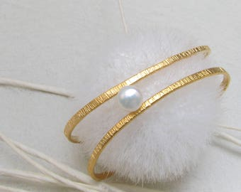 LaLune -  goldplated  Sterling Silver Bangle