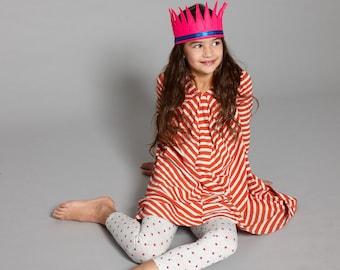 felt crown in bright magenta