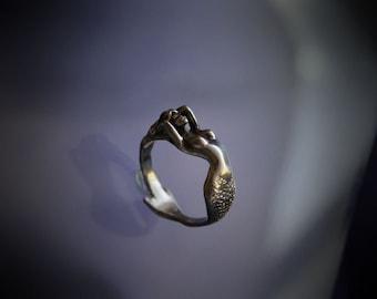 Mermaid Ring Sterling Silver Mermaid Jewelry